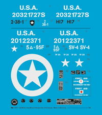 Peddinghaus-decals 1:6 3677 US Military Willy's Jeep Insignia for 2 Fahrze