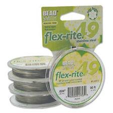 49 Strand Flex Rite Beading Stringing Wire .024 Inch 30 Feet Stainless
