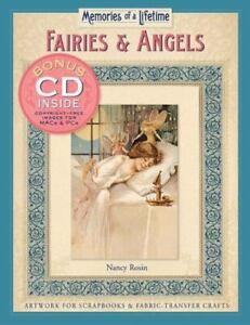 "NEW Memories of a Lifetime ""Fairies & Angels"" Artwork for Scrapbooks w Bonus CD"