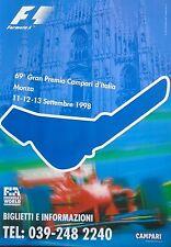 FERRARI F1 MONZA Italian Grand Prix 1998 SCHUMACHER ORIGINALE Poster 96cm x 66cm