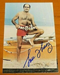 Lou Thesz Pro Wrestler Signed 4x6 Photo with JSA COA