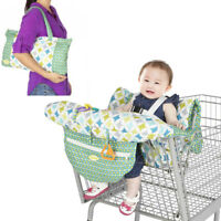 Foldable Baby Kids Child Shopping Trolley Cart Seat High Chair Cover Protector