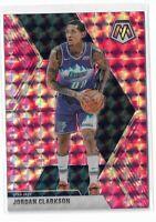 2019-20 Panini Mosaic basketball Pink Camo Parallel #197 Jordan Clarkson