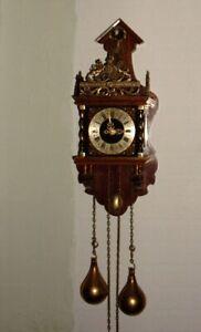 Niederländische Uhr # J A W Wuba # Wanduhr #