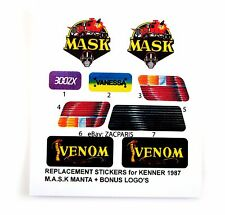 MASK stickers for KENNER M.A.S.K MANTA Personalized + BONUS
