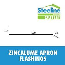 Zincalume Apron Flashings - Per Meter