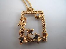 Genuine Alex Monroe 22ct Gold Plated Silver Climbing Ivy with Diamond Necklace