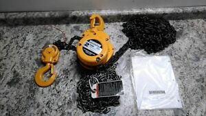Harrington CF020-15 15 Ft Hoist Lift 4,000 Lb Load Cap Manual Chain Hoist