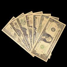 7Pcs/Set Commemorative Gold Foil Paper Usa Dollars MoneyBanknotes Collections 6H