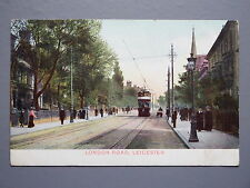 R&L Postcard: London Road Leicester, 1906, Street Scene, Tram