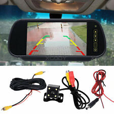 "CAR REAR VIEW 7"" LCD MONITOR + NIGHT VISION REVERSING PARKING CAMERA 4LED KIT"