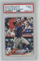2018 Topps Update Ronald Acuna #US250 Flagship Rookie RC Braves PSA Mint 9
