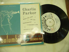 """CHARLIE PARKER"""" NOW'S THE TIME-Disco 45 giri EP COLUMBIA Italy 1958"""""""