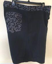 Vintage 90's Rusty Men's Black Velvet Trimmed Board Shorts Size 36