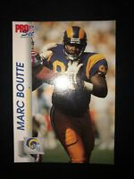 1992 PRO SET FOOTBALL MARC BOUTTE #545 LOS ANGELES RAMS NFL CARD FREE SHIPPING