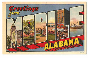 ALABAMA 696-Greetings from Mobile