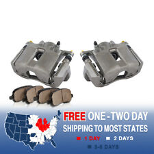 Front Brake Calipers & Ceramic Pads For ACURA CL TL TSX HONDA ACCORD