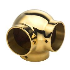"""Ball Side Outlet Elbow - Polished Brass - 1.5"""" OD - Bar/Pub Foot Rail Tubing"""