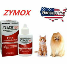Zymox Plus Advanced Formula 1% Hydrocortisone Otic Dog & Cat Ear Solution 1.25oz