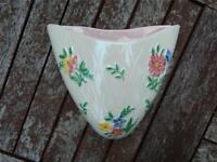 Maling Lustre Ware Wall Pocket. Made in Toon, England long ago