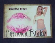 2016 Corinna Blake Collectors Expo Autographed Kiss Card AVN STar