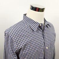 Jack Spade Mens XL Warren Street Ny Blue Yellow Plaid Cotton Casual Shirt