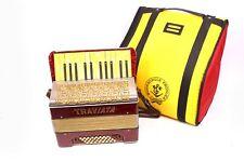 TRAVIATA Akkordeon Handharmonika 32 Bässe DIX Stahlstimmen Ziehharmonika