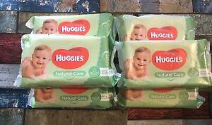 6 x Packs HUGGIES BABY WET WIPES 336 In Total