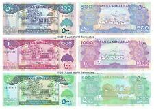 Somaliland 500 + 1000 + 5000 Shillings 2011 Set of 3 Banknotes 3 PCS UNC