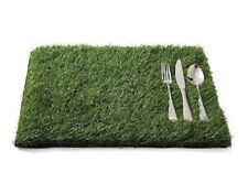New listing 4 Grass Placemats Turf Fake Faux Artificial Sport Theme Kid Party Outdoor Shower