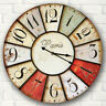 30*30cm Large Vintage Rustic Wooden Wall Clock Antique Shabby Chic Retro Decor