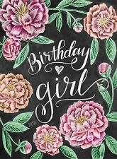 LILY AND VAL BLACKBOARD GREETING CARD: BIRTHDAY GIRL- NEW in CELLO