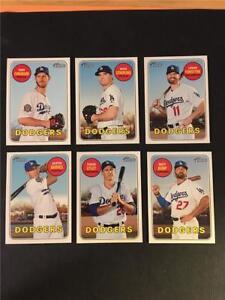 2018 Topps Heritage High Number Los Angeles Dodgers Team Set 6 Cards SP