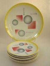 Art Deco Keramik Service Spritzdekor SMF Schramberg Konfekt  Ceramic