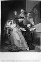 SISTER ELIZABETH BARTON NUN OF KENT HOLY MAID LONDON ~ 1860 Art Print Engraving