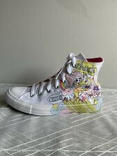 Converse Notebook Print Chuck Taylor All Star Hi Top 166562C Shoe Men's 5 Wo's7