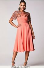Rahaya skater dress in peach size 10