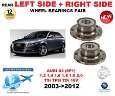 Für Audi A3 Hinterradlager 2003-2012 1.2 1.4 1.6 1.8 1.9 2.0 Links & Rechts