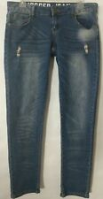 Rue 21 Jogger Jeans Women 5/6 Super Soft Skinny Stretchy Distressed Zip Fly