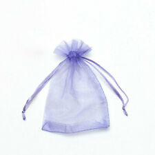 20pcs Lavender Drawstring Organza Bags Packaging Wedding Party Gift 7x9cm