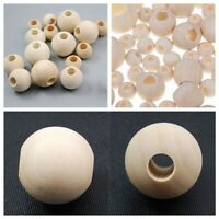 10-40mm Natural Wood Large Hole Wooden Beads for Macrame European Charms Crafts