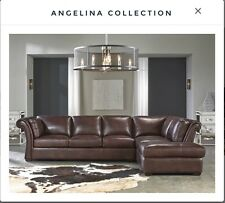 Lazzaro Leather Angelina Rustic Sauvage Two Piece Sectional Sofa