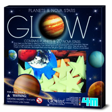 4M Glow Planets & Nova Stars - Astronomy Space Stem Toys Gift Room Décor For & &