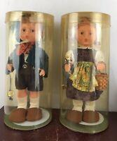 Vintage - Goebel Hummel Plastic Goose Girl Doll And Boy Doll