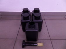 5 Stück 1 Liter Pinselflasche schwarz Pinsel Flasche