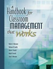 A Handbook for Classroom Management That Works, Education Theory, Education, All