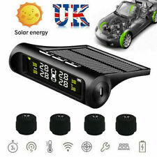 Solar TPMS Car Tyre Pressure Monitoring Real-time System & 4 Wireless Sensors