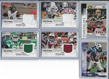 EMMANUEL ABUSEI ROUGHRIDERS 2018 UPPER DECK CFL FOOTBALL GAME JERSEY #GJ-AD