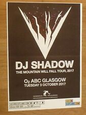 DJ Shadow  Glasgow - The Mountain Will Fall tour concert gig poster