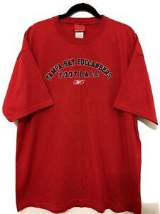 Reebok Tampa Bay Buccaneers NFL Football Red Men's Size XL VTG